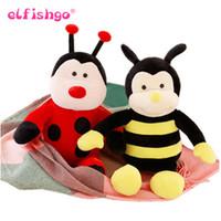 arılar evler toptan satış-Güzel Arı Peluş Oyuncak s Doldurulmuş Hayvan Doll Çocuklar Arkadaşlar Için Noel Hediyeleri Ev Dekorasyon 35 cm