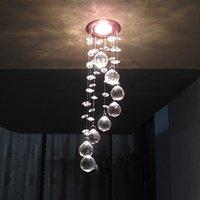 ingrosso camere da letto-Semplice LED k9 Plafoniere / LED Light / l lustre luce led Ristorante Crystal Plafoniere Camera da letto 3W Crystal Lighting