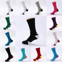 носки велосипедные для мужчин оптовых-Бесплатная DHL повседневная мужская носки спорт профессиональный баскетбол элита носок баскетбол спорт носки Велоспорт велосипед носки G501s