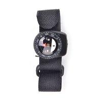 açık gps pusulası toptan satış-YENI Faydalı Pusula Açık Klip-On Watchband Yürüyüş Dişli Pusulalar Kapatma Ile GPS Naylon Band Bilezik