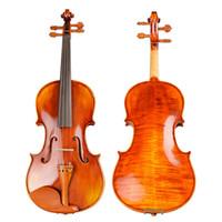 professionelle violinen großhandel-Violinen Professional Saiteninstrumente Violine 4/4 Natural Stripes Ahorn Violon Master Handarbeit Violino mit Case Bogen Kolophonium