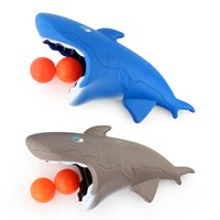 Wholesale shark toys games for sale - Cartoon Design Shark Dolphin Style Table Tennis Catapult Bouncy Ball Toys Parenting Interaction Launch Balls Fun Games Fashion xd Z