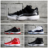Wholesale women army boots - 2018 XI 11 gamma blue 11s Baseketball Shoes Space jam gamma blue bred low varsity red black out Men Women Trainers Boots 36-47