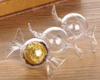 ingrosso doccia di plastica del bambino-Scatole di immagazzinaggio di 360pcs bidoni di plastica bella forma di caramella caramelle rotonde di cioccolato scatole matrimonio compleanno Baby Shower Decoration