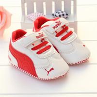 moccasin rahat ayakkabı bebeği toptan satış-Rahat Bebek Kız Erkek Spor Ayakkabı Dantel-up Yenidoğan İlk Walker Ayakkabı Yumuşak Sole kaymaz Bebek Moccasins Sneakers