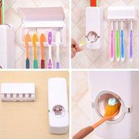 гостиничная зубная паста оптовых-Автоматический дозатор зубная паста Ленивец семьи Пластиковые Подставка для зубных щеток набор высокого качества наборы для ванной комнаты для семейного отеля