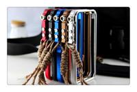 iphone taktik toptan satış-Cep Telefonu Kılıfları Için iphone 6 7 8 X Alüminyum Metal Alet-az CNC Tampon Tetik Taktik Edition Kılıf Çerçeve Kapak Ile Tırmanma