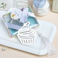 Wholesale cupcake shipping supplies - Free Shipping Cupcake Bookmark Wedding Favors And Gifts Wedding Supplies Wedding Souvenirs Baby Shower Favor