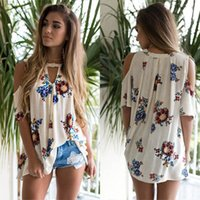 Wholesale vintage playsuits - JAYCOSIN Vintage Rompers Womens Blouse Sexy Ladies Deep V Neck off shoulder Long Sleeve Print Overalls Loose Beach Playsuits