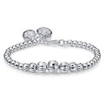 bilezikler için gümüş bilekler toptan satış-RADHORSE 999 Gümüş Kadınlar Güzel Takı için Bilezikler karpuz Transferi topu Klasik Tarzı ayarlanabilir Bilezikler