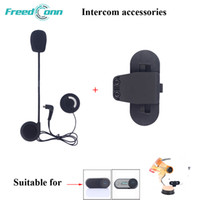 Wholesale intercom headset for helmet - Freedconn Earphone&Clip Accessory for TCOM-VB TCOM-SC Interphone Helmet Bluetooth Motorcycle Helmet Intercom Headset Accessories