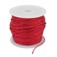 ingrosso braccialetto rosso stringato intrecciato-Nuovo 40 m rosso nylon nodo cinese bordare il cavo dei monili per fai da te collana braccialetto intrecciato string making