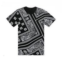 Wholesale t shirts flower men - Summer Latest T Shirt Men Swag La Rhude Bandana Print HARAJUKU Ktz Flowers Cashew Worldshine Hip Hop Mens Tshirt Plus Size M-5XL