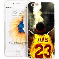 iphone 5c cas de silicone achat en gros de-Fundas LeBron James - Coque de protection en silicone TPU transparente pour iPhone X 7 8 Plus 5S 5 SE 6 6S Plus 5C 4S 4 iPod Touch 6 5 Boîtiers.