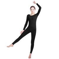 macacão de lycra preto venda por atacado-(SWH021) Spandex Preto Pele Cheia de Corpo Completo Macacão Zentai Terno Bodysuit Traje para As Mulheres / Homens Unitard Lycra Dancewear