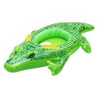 tierschwimmen ringe großhandel-Aufblasbares Kinderbaby-Krokodil-Schwimmen-Ring-Hin- und Herbewegungs-Boots-Sitz-Schwimmen-Pool-Floaties Tierfloaties Neueste Wasser-Flöße