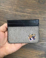 Wholesale Woman Slim Card Holder - New Series Mens Fashion Classic Design Casual Credit Card Holder Hiqh Quality Leather Ultra Slim Wallet Packet Bag For men women