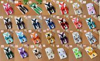 Wholesale candy suspenders - 120sets lot children candy color Suspenders bowtie set kids Y-Back Adjustable Elastic Boys Suspenders Bow Tie