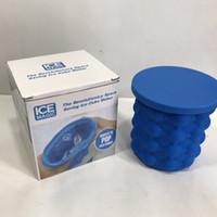 ingrosso refrigeranti a base di vino-2 dimensioni in silicone risparmio Ice Cube Maker Genie secchi di ghiaccio in silicone Ice Cuber Maker stampo spazio cucina utensili da viaggio con scatola al minuto
