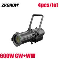 luz de zoom venda por atacado-600 W Bi-color Die Casting Alumínio LED Perfil Spot Light Com Zoom Studio TV Profissional Iluminação de Palco 230 V Efeito Frete Grátis
