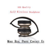 Hot selling Best Selling Sol3 Wireless Headphone With Logo Stereo Bluetooth headset Support AUX FM TF Card Earphone Earbuds For iphone Samsung Wholesale