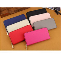 Wholesale cheap cotton pillows online - 2018 Hot Famous Brand Designer Fashion Single Zipper Cheap Luxury Designer Women Pu Leather Wallet Lady Ladies Long Purse