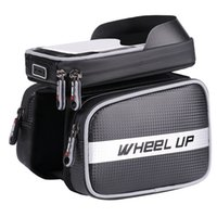 Wholesale touchscreen frame - Wheel Up Bike Bicycle Cycling Frame Front Tube Waterproof Bag With 6.2 Inches Touchscreen Phone Holder Bag Bike Accessories