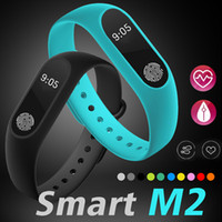 Wholesale Fitness Wristbands - M2 Smart Bracelet Fitness tracker Smart Watch Heart Rate Monitor Waterproof Smart Bracelet Pedometer Call remind Health Wristband