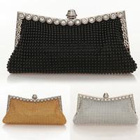 Wholesale Wholesale Clutch Purse Frames - Women Stylish Rhinestone Handbag Evening Party Clutch Bag Banquet Tote Purse