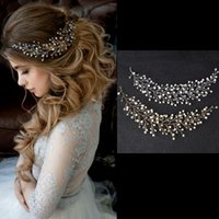 Wholesale cheap ceramic balls - 2018 Cheap Wholesale Silver Gold Crystal Bridal Headband Aribic wedding Elegant Hair accessories Headpiece Bride Tiara Jewelry Free Shipping