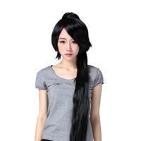 Wholesale cosplay soul eater resale online - Cosplay Soul Eater Nakatsukasa Tsubaki ponytails cm black kanekalon wig