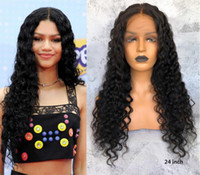 Wholesale natural affordable wigs resale online - Premier A Affordable Lace Wigs Glueless Lace Front Wigs With Natural Hairline Pre plucked Indian Remy Hair Density Deep Body Wave Wigs