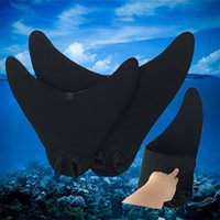 Wholesale Fins For Diving - Mermaid Swim Fins Crashworthy Diving Monofins Swimming Foot Flipper Mono Fins Fish Tail Swim Training For Adult Kids Christmas Gifts