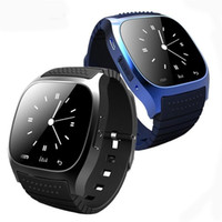 Wholesale music watch phone for sale - Group buy Smart Bluetooth Watch Smartwatch M26 with LED Display Barometer Alitmeter Music Player Pedometer for Android IOS Mobile Phone with retail