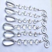 glass crystal strands toptan satış-20 adet / grup Güzel 170mm Garland Tellerinin Cam Kristal Kek Aksesuarları, Kristal Düğün Dekorasyon, Noel Ağacı Dekorasyon