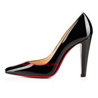 dd34241f Zapatos rojos de lujo 2018 Moda punta estrecha tacones altos Colores de  diseño Sexy Boca baja Suela Zapatos de vestir de boda de las mujeres de  tacón alto