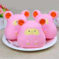 Wholesale pattern mouse - New Pattern Squishy Big Ear Mouse Slow Rebound Toy Simulation Hamster Decompression Toy Squishies Soft Doll 15 5dy W
