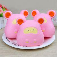 ingrosso grandi giocattoli w-Nuovo modello Squishy Big Ear Mouse giocattolo di rimbalzo lento Simulazione Hamster Decompression Toy Squishies Soft Doll 15 5 W