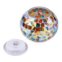 Wholesale Mosaic Glass Lamps - Solar Powered Mosaic Glass Ball Garden Lights Color Changing Table Lamps Waterproof Landscape Park Lawn Light Garden Light