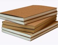 ingrosso book notebook vintage-Kraft Sketch Book DIY Diario di viaggio Vintage Sketchbook Diario Disegno Pittura Graffiti Soft Cover Memo Pad Notebook Materiale scolastico per ufficio