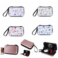 Wholesale organizers for suitcases - Portable Mini Make-up Cases Cosmetics Travel Organizer Bags for Women Zipper Makeup Suitcase Mini Luggage Case 28 Styles LJJO4532
