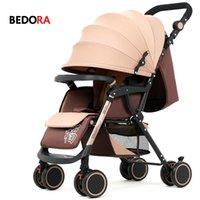 hafif hafif toptan satış-Bebaby arabası bebek arabası yatırabilir oturabilir Hafif katlanır dört tekerlekli arabası amortisör arabası