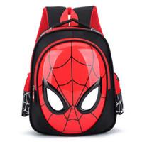 mochila escolar impermeable al por mayor-2018 3D 3-6 años de edad Mochilas escolares para niños mochilas impermeables niño Spiderman mochila bolsa de hombro de los niños mochila mochila Y18120303