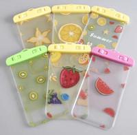 Wholesale cute mobile cases - Fruit Series Mobile Phone Waterproof Bag Drifting Diving Mobile Phone Bag Cute Cartoon Waterproof Mobile Phone Case