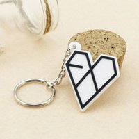 ingrosso spedizioni del cercatore-Hot Selling New Personalized Trendy Portachiavi Key Finder Love Exo Logo Portachiavi Accessori moda Drop Shipping