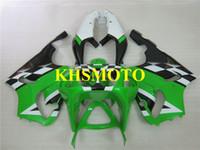 kit carenado moto kawasaki zx7r al por mayor-Kit de carenado de motocicleta para KAWASAKI Ninja ZX-7R ZX7R 1996 2003 ZX 7R 96 97 02 03 Carenados de motocicleta blanco verde + regalos