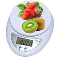 dieta de escalas al por mayor-Brand new 5000g / 1g 5kg Food Diet Postal Balanzas digitales de báscula balanza de peso peso LED electrónico WH-B05