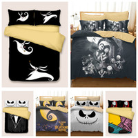 Wholesale king size skull bedding online - Styles Halloween Skull D Printed Twin King Size Bedding Sets Bed Sheets Queen Bedding Sets King Size Comforter Set