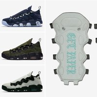 Wholesale British Sneakers - TOP Quality Sneaker Room x Air More Money 96 QS Pippen Men's Basketballs Shoes French Euro British Pound US Dollar
