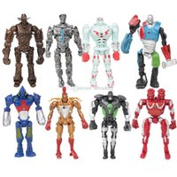 ingrosso figure di acciaio reale-Real Action Figure in acciaio giocattoli Nuovi cartoni animati 8 pezzi / set Collezione Modello Bambole Giocattoli Regalo per bambini C4548